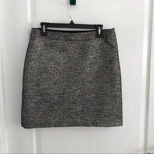 Banana Republic Textured Metallic Mini Skirt Sz10